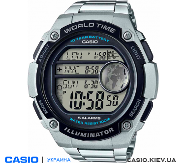 AE-3000WD-1AVEF, Casio Standard Digital