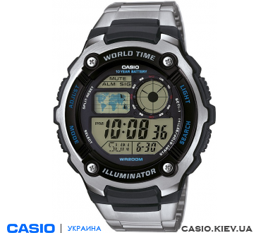 AE-2100WD-1AVEF, Casio Standard Digital