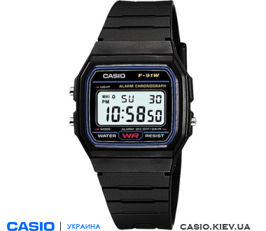 МУЖСКИЕ ЧАСЫ CASIO STANDARD DIGITAL F-91W-1Q