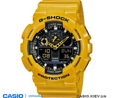 GA-100A-9AER, Casio G-Shock